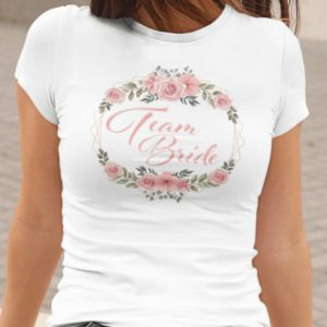 Team Bride Damen T-Shirt Weiß